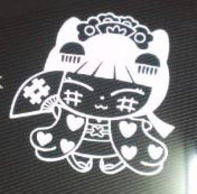 画像2: やちにゃん 蒔絵風ステッカー ミニ